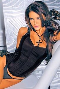 Black-Satin-Corset-Bustier-with-Zip-up-Front-sizes-Small-to-XL