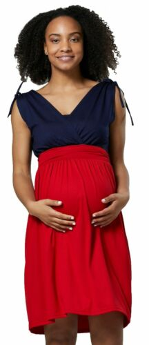 Zeta Ville femmes Maternité Nursing Layered V-cou robe sans manches 072