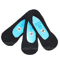Mens Invisible Socks Black White 3 6 12 Pairs Available UK 6-11 EU 39-45 Summer