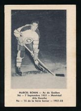 1951-52 Laval Dairy (QSHL) #15 MARCEL BONIN (Quebec) -Canadiens, Red Wings