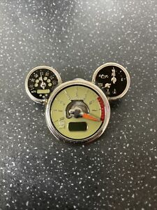 Disney Mickey Mouse Icon Head Car Speedo Tachometer Official Pin Key 2008 Rare
