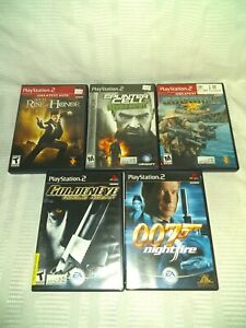 PlayStation 2 Game Lot 5 Games 007, Golden Eye, Splinter Cell, Rise of Honor,