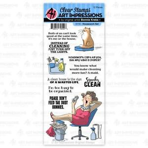 Art Impressions Get Well Clear Stamp Set Nurse Shot Patient Pills Funny Sayings