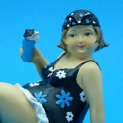 DekoFigur dicke maritime Badenixe dicke Nana dicke Lady