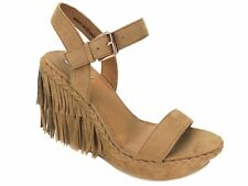 39cbef912155 item 4 Naughty Monkey Not Rated Women s Roaring Ruby Fringe Wedge Sandals  Nude Sz 9.5 M -Naughty Monkey Not Rated Women s Roaring Ruby Fringe Wedge  Sandals ...