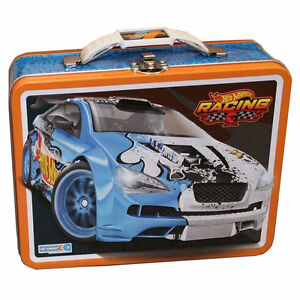 Image is loading Tin-Metal-Lunch-Snack-Toy-Box-Hot-Wheels-  sc 1 st  eBay & Tin Metal Lunch Snack Toy Box Hot Wheels Yellow Race Team Car 68 ... Aboutintivar.Com