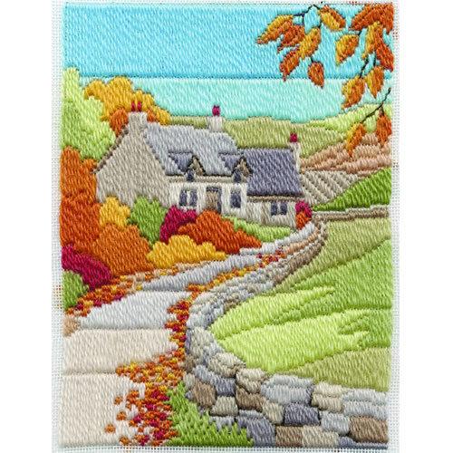 Derwentwater Designs Long Stitch Kit Autumn Cottage