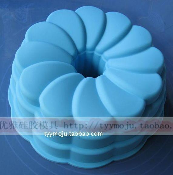 "New Arrive Big 10"" Kugelhopf Silicone Baking Bareware Cake Mold Mould Pan TT"