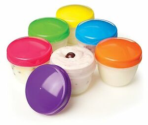 Sistema 150ml Yogurt Round Office Students Food Containers 2 Pk