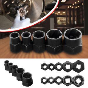 10-16mm-5PCS-dado-arrotondato-Bullone-Grip-Estrattore-Rimozione-Cacciavite-Set-Chiave-a-perno