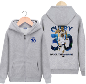 the best attitude 43e3e db95e STEPHEN CURRY #30 - KIDS YOUTH BOYS ZIP HOODIE JACKET GOLDEN ...
