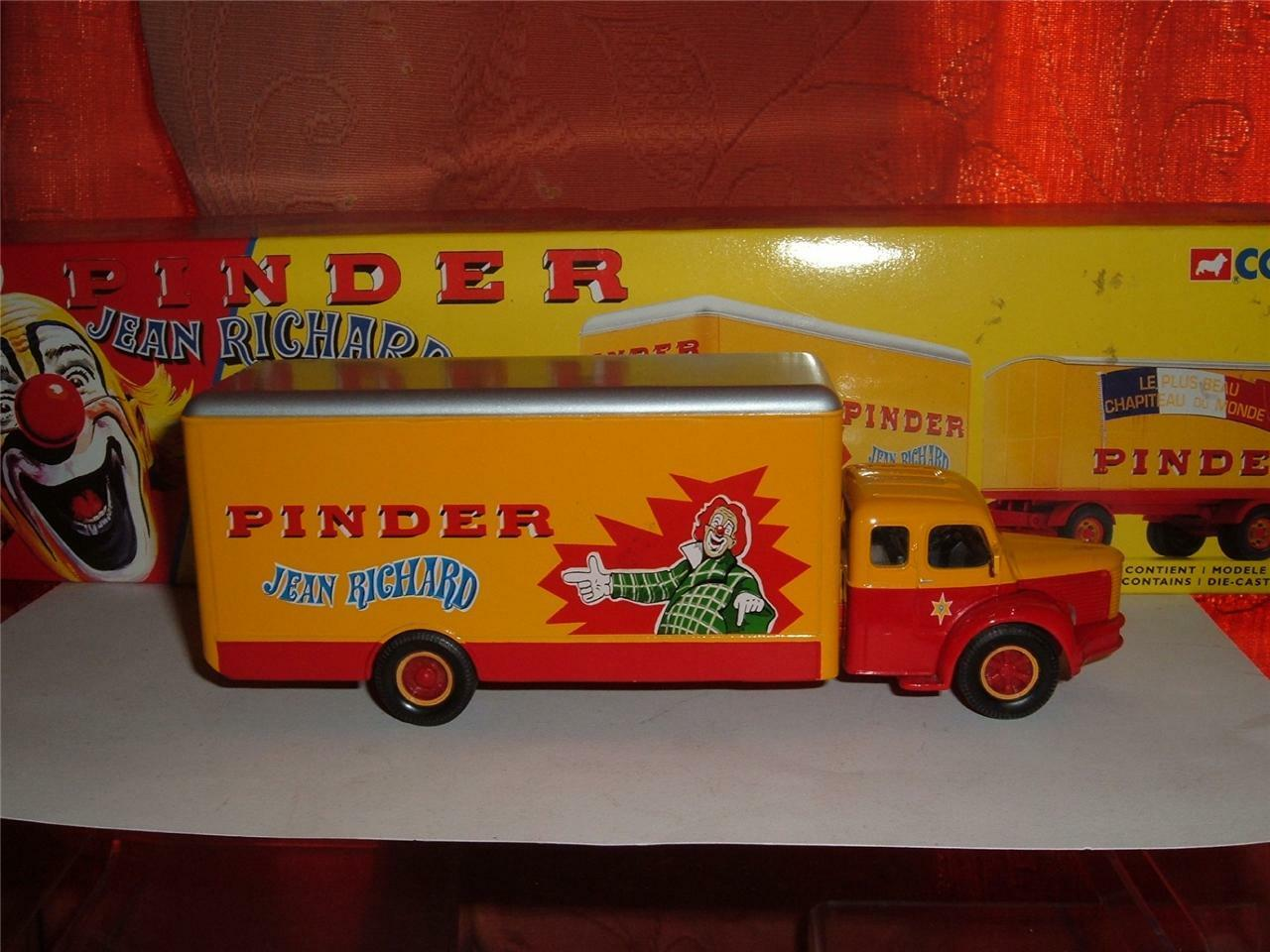 CORGI TOYS BERLIET  PINDER CIRCUS LORRY WITH BOX SCROLL DOWN TO SEE THE PH0TOS