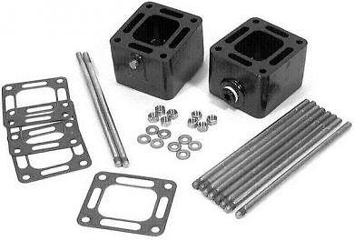 "MerCruiser 3 inch Exhaust manifold Riser spacer kit mc2093320a3 3320 93320a13 3/"""