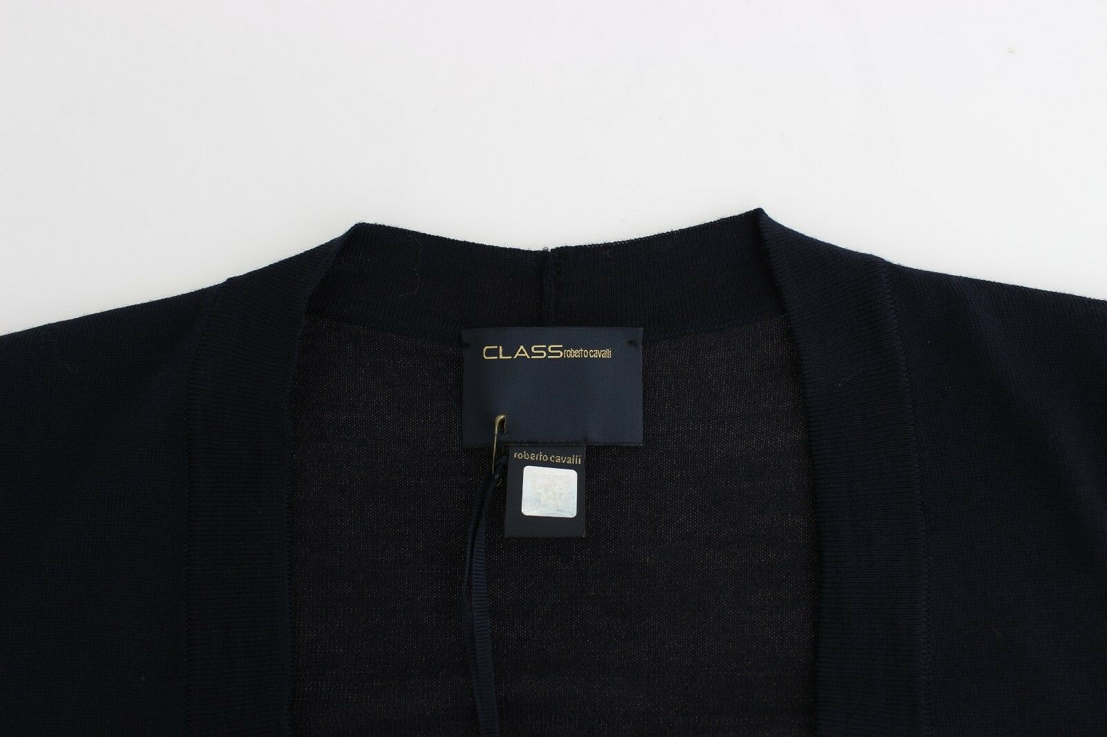 NEW  400 CLASS ROBERTO CAVALLI Cardigan Cardigan Cardigan bluee Wool Cropped Shrug Jumper IT46 US10 6ee360