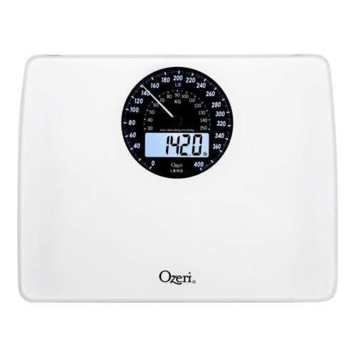 Capacity Ozeri Digital Bathroom Scale Electro-Mechanical Weight Dial 400 lb