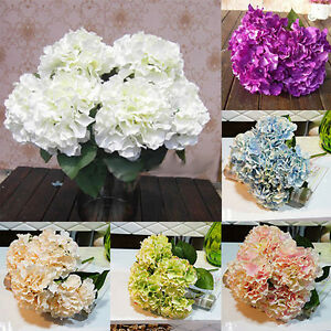 CO-5-Heads-Wedding-Artificial-Hydrangea-Silk-Flower-Home-Party-Bouquet-Decor-Sw