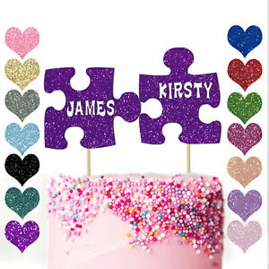 Personalised-Puzzle-Pieces-Wedding-Anniversary-Cake-Topper-Girlfriend-Couples