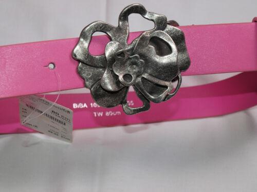 Biba Elasticizzata Cintura Funky Jungle PINK Fibbia in forma fiori 85-95cm neuஜ