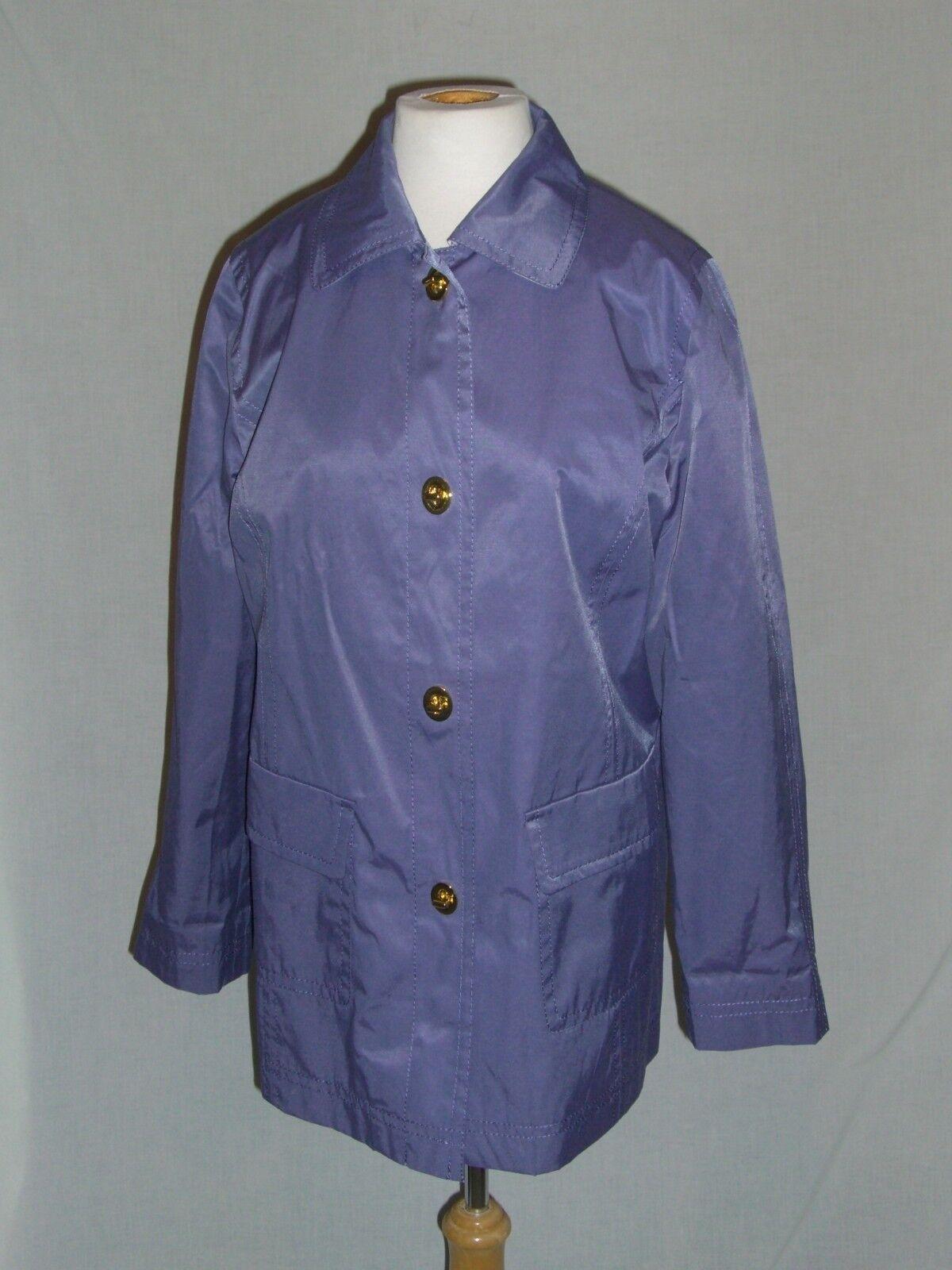 ISAAC MISRAHI LIVE Purple & Toile Rain Coat - S -… - image 1