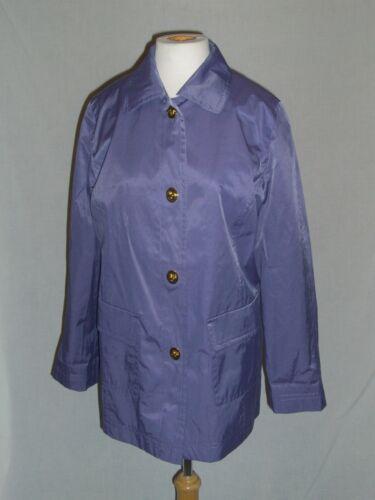 ISAAC MISRAHI LIVE Purple & Toile Rain Coat - S -