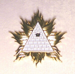 Knights Templar Holy Land Crusades Pyramid Secret Occult Badge Medal War KT Pin