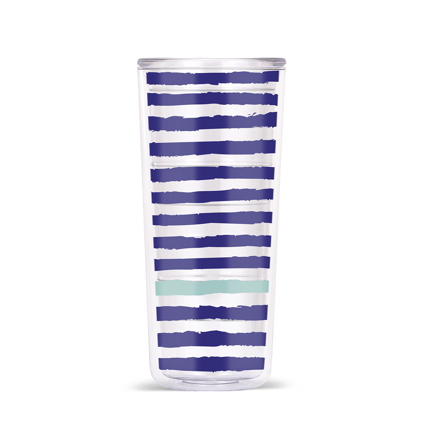 ThermoServe 18oz Double Wall Tritan Tumbler, Set of 4 (Multiple colors Patterns)