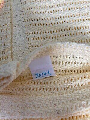 Zorbit cellular cot blanket lemon BNWT
