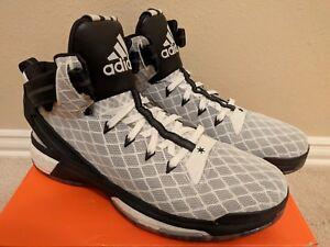 a7daa624436 Adidas Men s D Rose 6 Boost Basketball Shoe Black White (AQ8422 ...