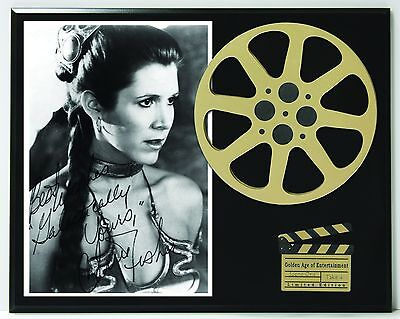 "Carrie Fisher Limited Edition Reproduction Signature & Film Reel Display ""K1"""