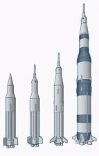 Saturn Launch Vehicle Family 1/312th Scale Micro Kits 3D Printed ABS