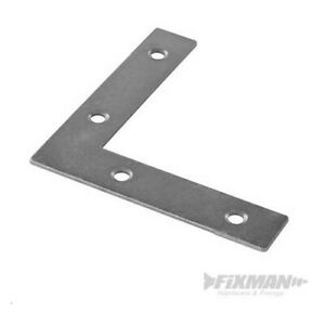10x L Shape Corner Shelving Repair Mending Plates Brace Metal Fixing Repair 50mm