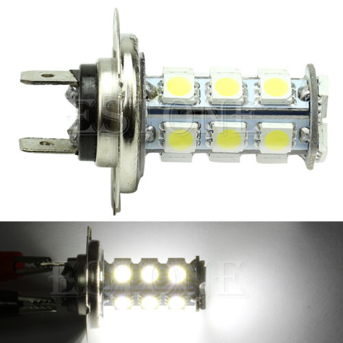 H7 18 5050 SMD White LED Car Fog Headlight Head Day Light Lamp Bulb 12V