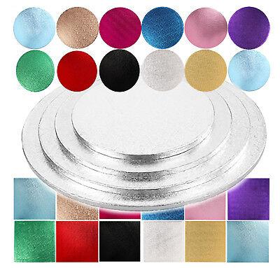 Torta Tamburo/comitati Quadrato/tondo Silver Oro Rosa Blu Colore-uk Fornitore-