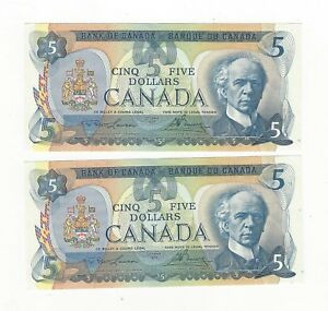 1979-Bank-of-Canada-5-Note-BC-53a-Law-Bou-Ser-30033690179-amp-80-Seq-Pair