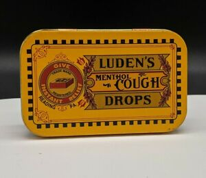 Ludens Menthol Cough Drops Reading PA. Authentic Reproduction Tin