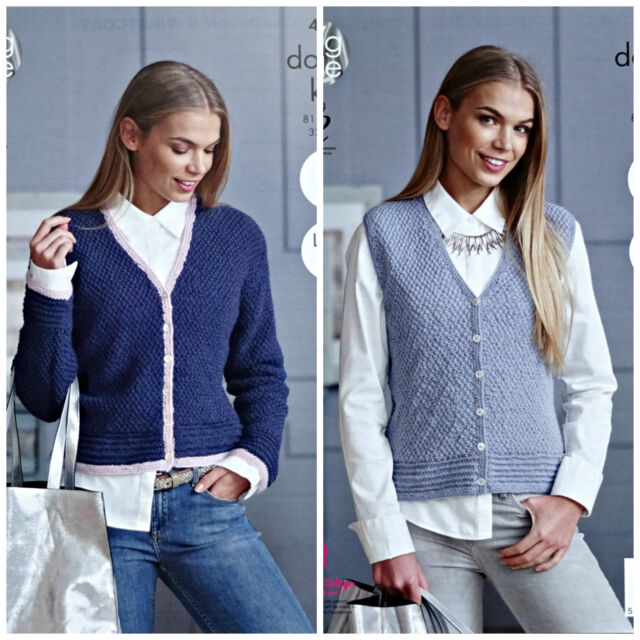 e2bfec54d King Cole 4866 Knitting Pattern Womens Cardigan   Waistcoat in Baby ...