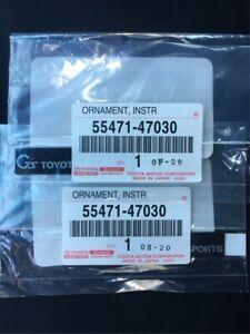 JDM Toyota GS G SPORTS Interior Instrument Cluster Badge Emblem OEM Genuine