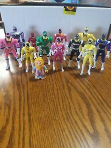 1997 Mixed Lot Of 12 Power Rangers Figures Bansi