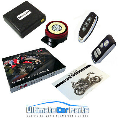 MOTORCYCLE SCOOTER MOPED BIKE ALARM IMMOBILISER WITH REMOTE START EASY INSTALL