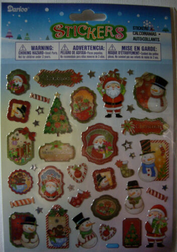 Your Choice Design* XMas Angels Santa Advent DARICE NEW CHRISTMAS STICKERS
