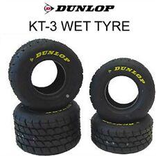 GO Kart Set di nuovi 2017 Dunlop KT-3-MSA BELLI FRESCHI Cadet Wet PNEUMATICI OTK ZIP