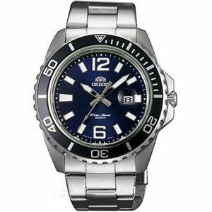 Orient-Mens-Submariner-Silver-Steel-Bracelet-Case-Mineral-Glass-Watch-FUNE3002D0