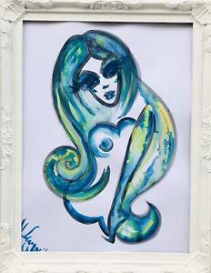 Margarita-Bonke-Malerei-PAINTING-erotic-EROTIK-FRAU-WOMEN-akt-nu-art-blue-nude