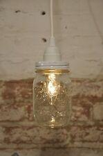 White Ball Mason Jar Industrial Pendant Light Lamp Vintage Rustic Canopy