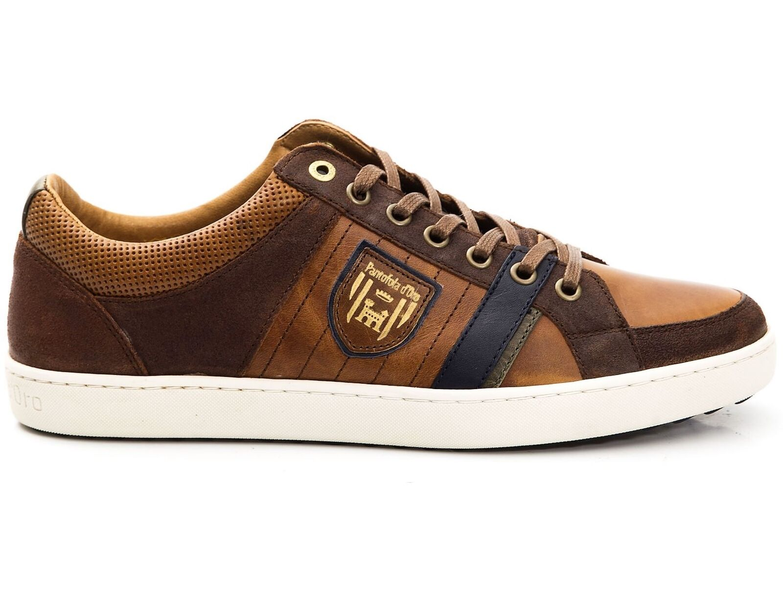 Leather Sneakers shoes Man Pantofola d'gold shoes Men Tarente Low brown 1018302