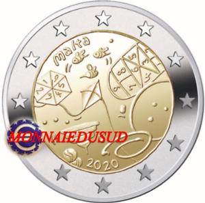 2-Euro-Commemorative-Malte-2020-Jeux-d-039-Enfants-UNC-NEUVE