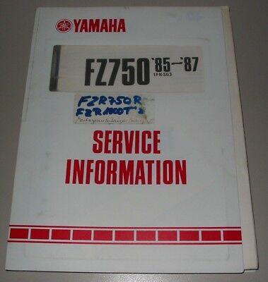 Ordentlich Service Information Yamaha Fz 750 In Deutsch Ausgabe 1985 - 1987! Eine GroßE Auswahl An Modellen