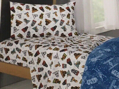 Kohl S Star Wars Twin Flannel Sheet Set New 32281272418 Ebay