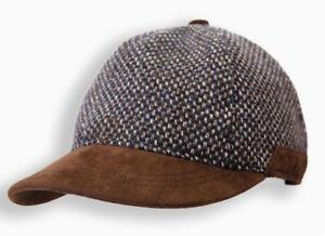 Seude-and-Wool-Baseball-Cap-in-Gray-amp-Brown-Mens-Hat