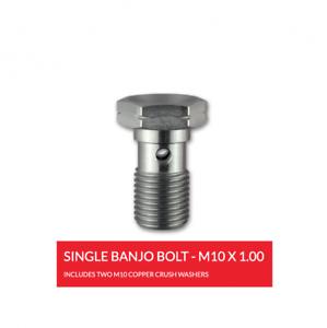 PAIR ABH 10MM STAINLESS STEEL BRAKE HOSE BANJO BOLT M10X1.0